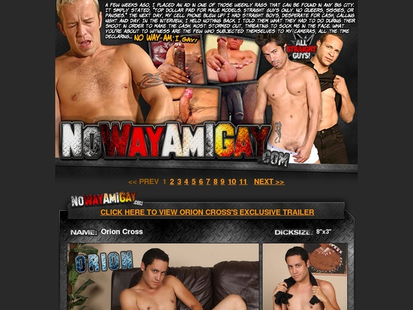 Nowayamigay.com Mail Order