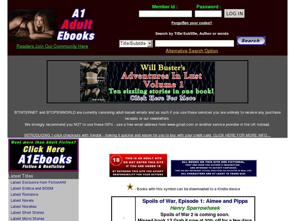 Sign Up For A1 Adult Ebooks