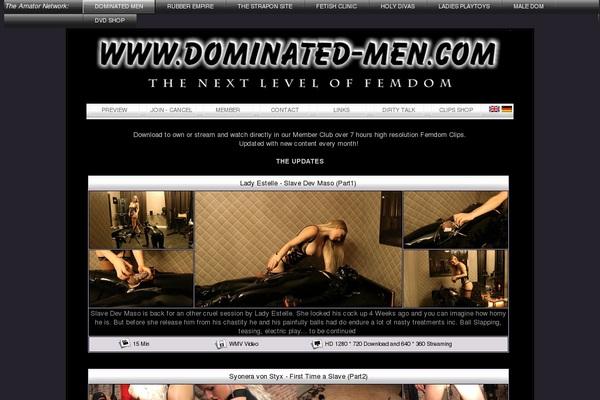 Working Dominated-men.com Account