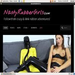 Nasty Rubber Girls Using Pay Pal
