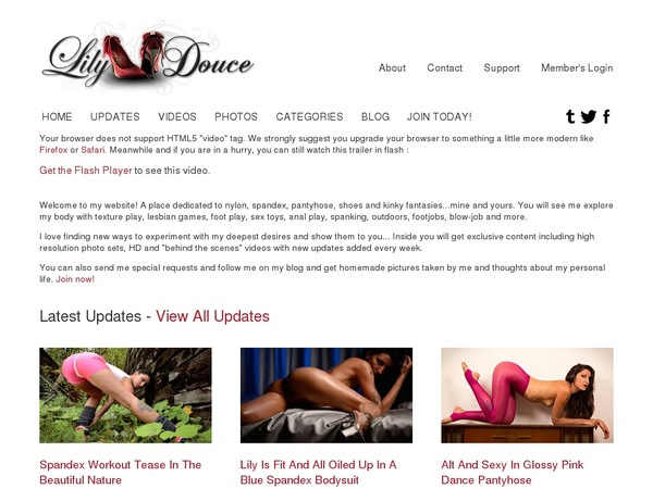 Lily Douce Member Sign Up