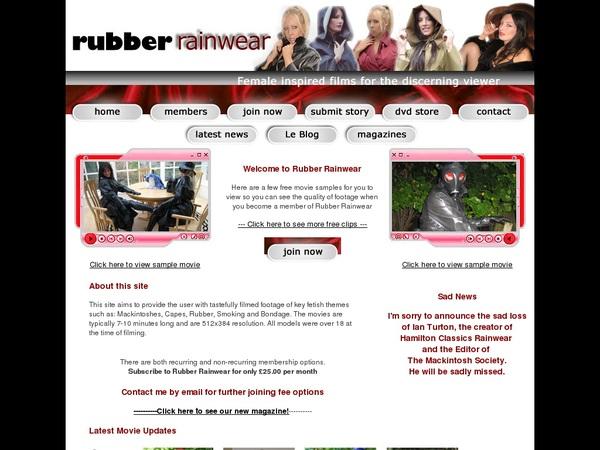 Rubberrainwear.co.uk Clips For Sale