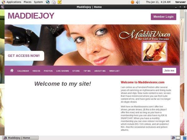 Maddievixenx.com Trial