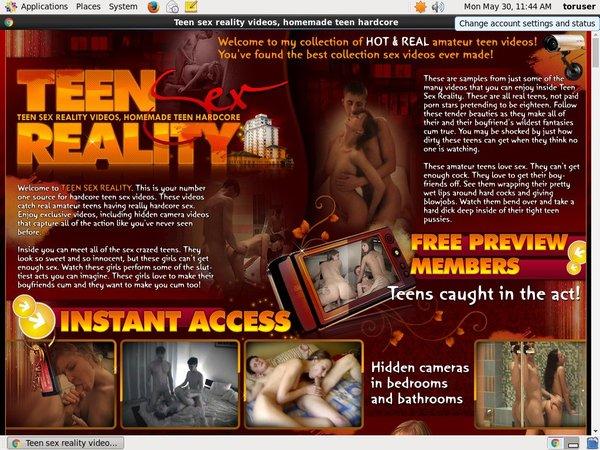 Free Teensexreality Acounts
