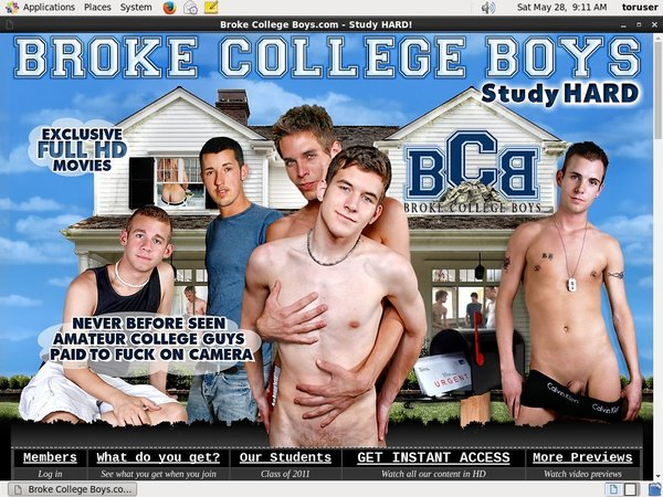 Free Brokecollegeboys.com Account Login