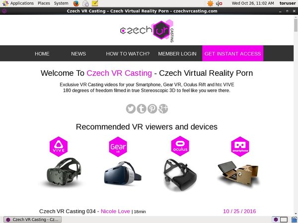 Free Czech VR Casting Account And Password