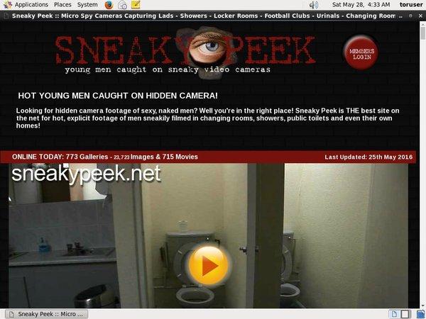 Sneaky Peek 로그인