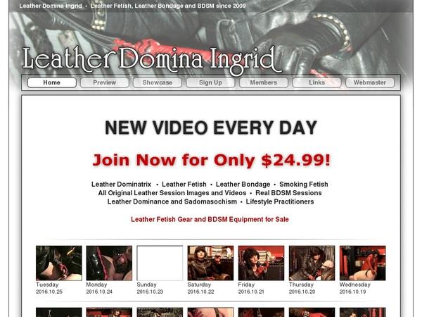 Leather Domina Ingrid Member Account